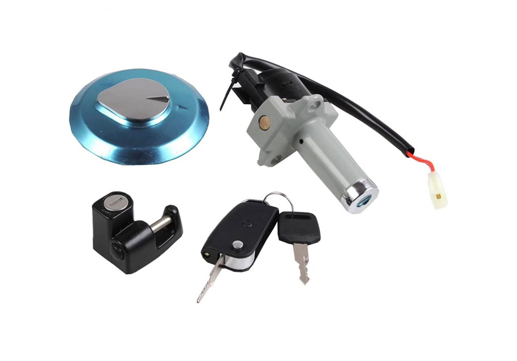 Motorcycle Body Part Lock HONGDA LED folding key